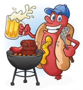 40214059-hot-dog-cartoon-tailgating-with-beer-and-bbq-cartoon-character