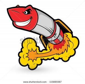 Cartoon Missile Launch